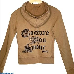 Juicy Couture distressed zip hoodie new Small
